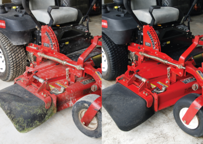 Tractor before and after