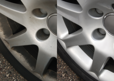Wheel Before and after