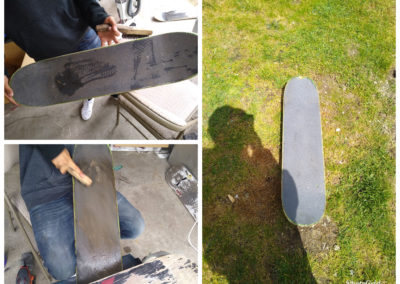Long Board Grip Tape Cleaning